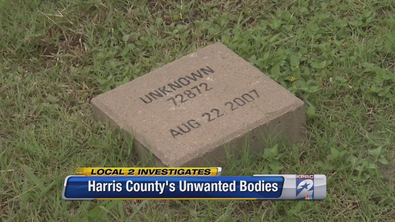 Unclaimed, unidentified bodies fill Harris County cemetery