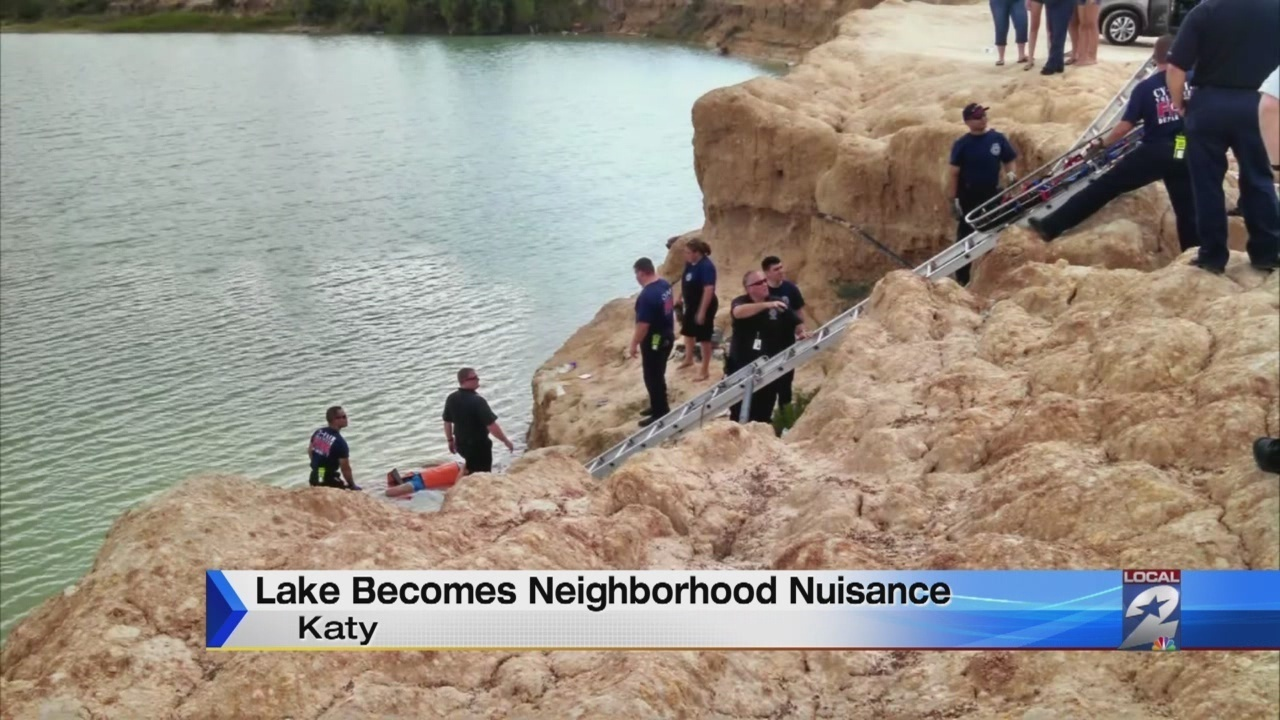 Sandpit becoming danger in Katy subdivision