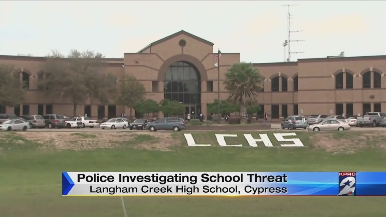 Tow Truck Houston >> Langham Creek High School: Threat posted on restroom wall