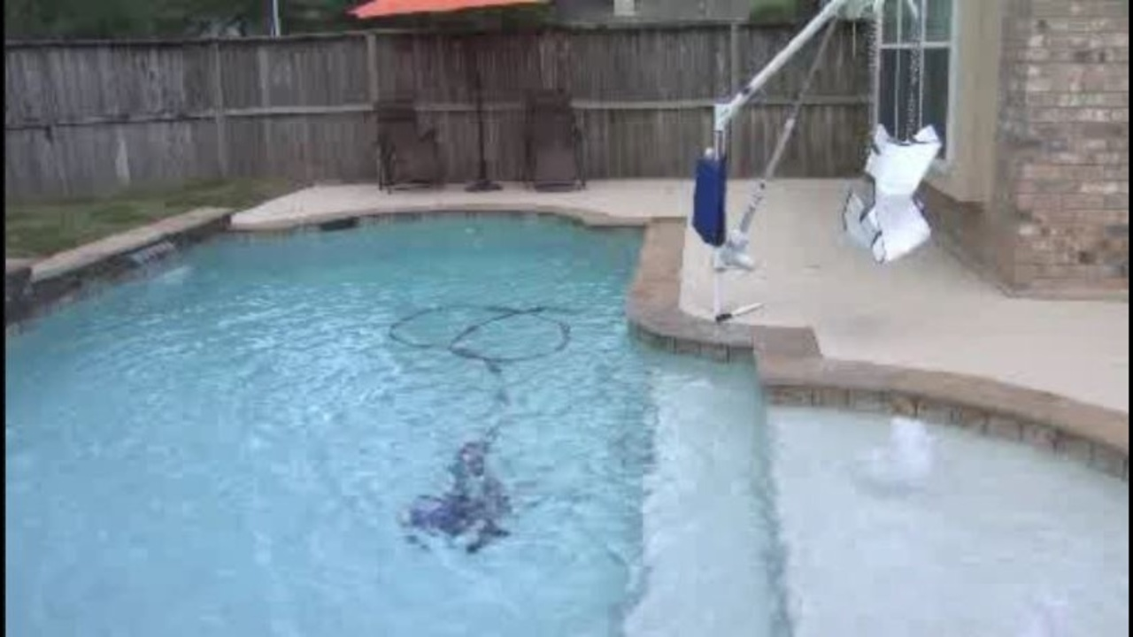 unfinished pool for special needs boy completed with donated
