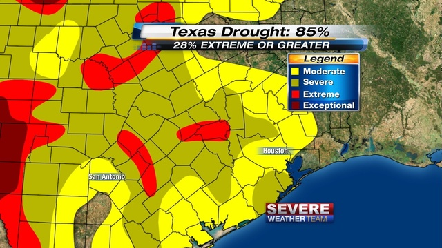 SE Texas Drought Monitor 21 March