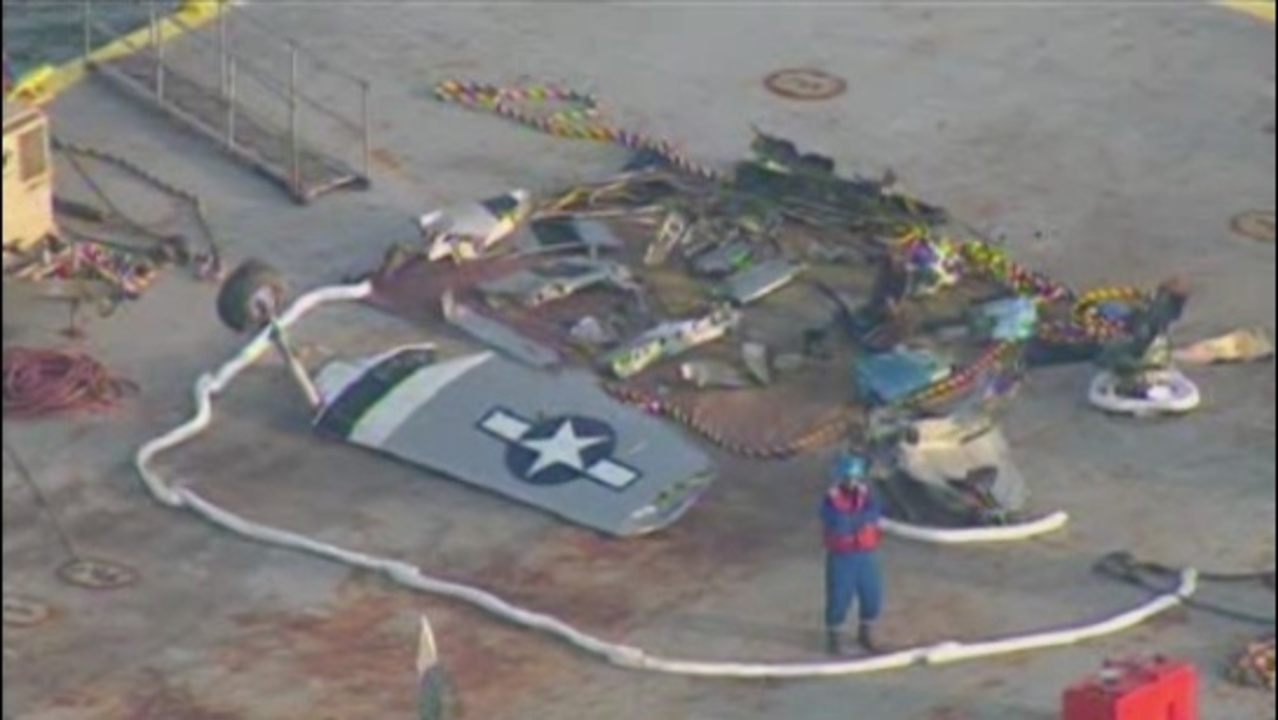 Parts of vintage plane recovered from Chocolate Bay