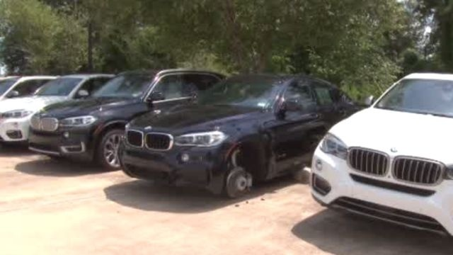 Tires Rims Stolen From Cars On Lot In The Woodlands