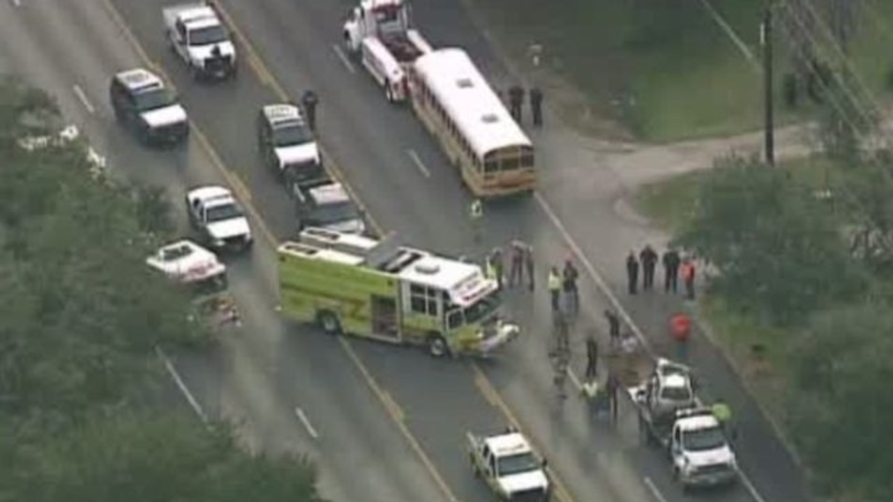 At least 1 injured in accident involving school bus in.