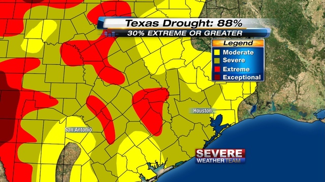 SE Texas Drought, 28 March Corrected