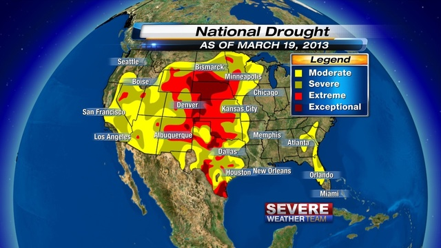 US Drought Monitor 21 March