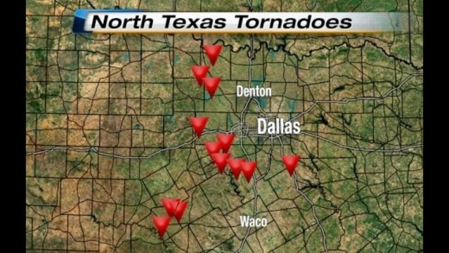 North Texas Tornadoes Wide View