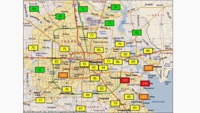 Ozone warning example map_11842016