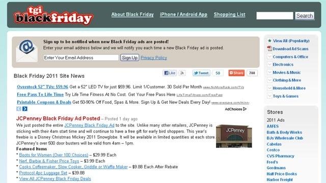 TGI Black Friday website screenshot