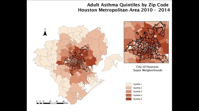 Adult asthma map