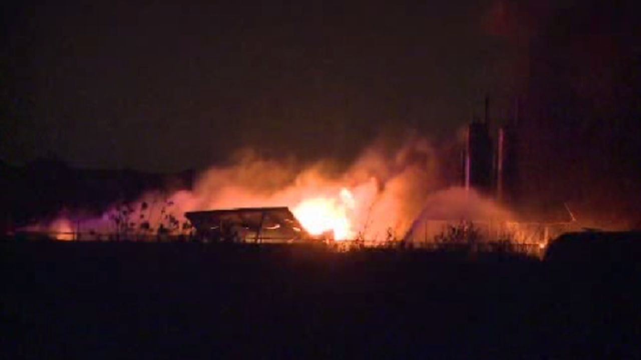 lightning causes oil field equipment fire in fort bend county