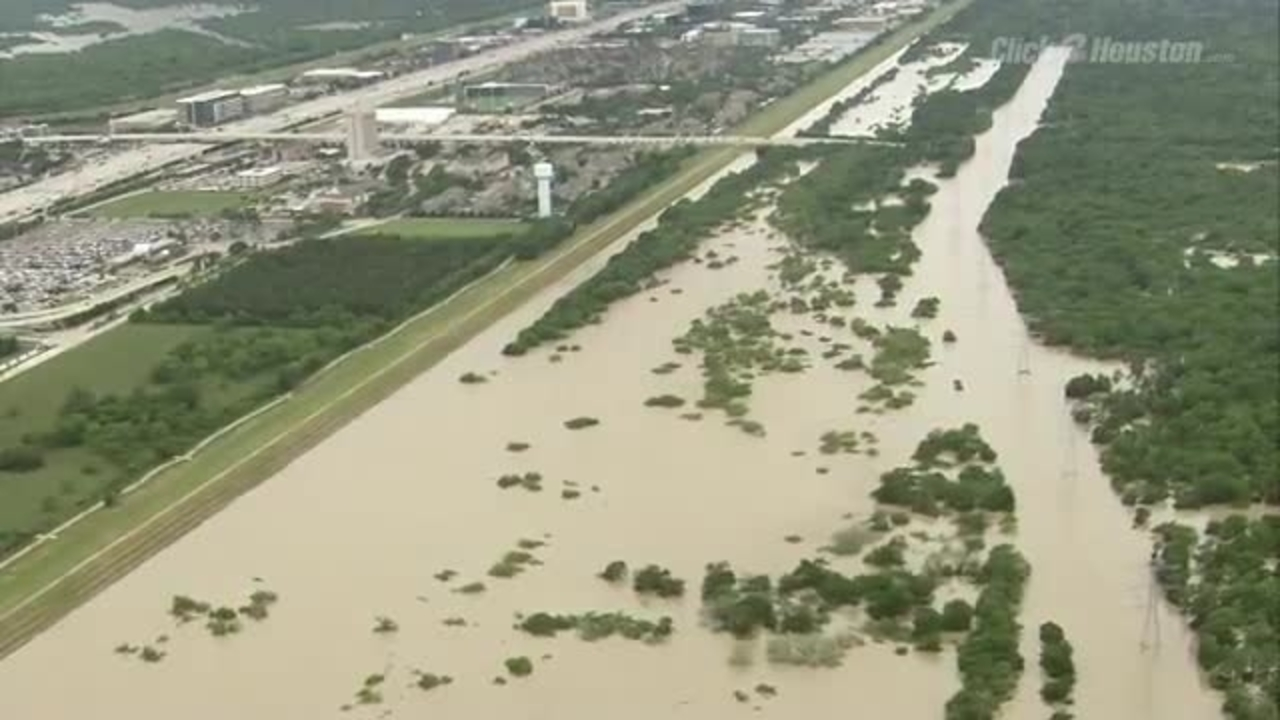 Addicks reservoir flood gates opened