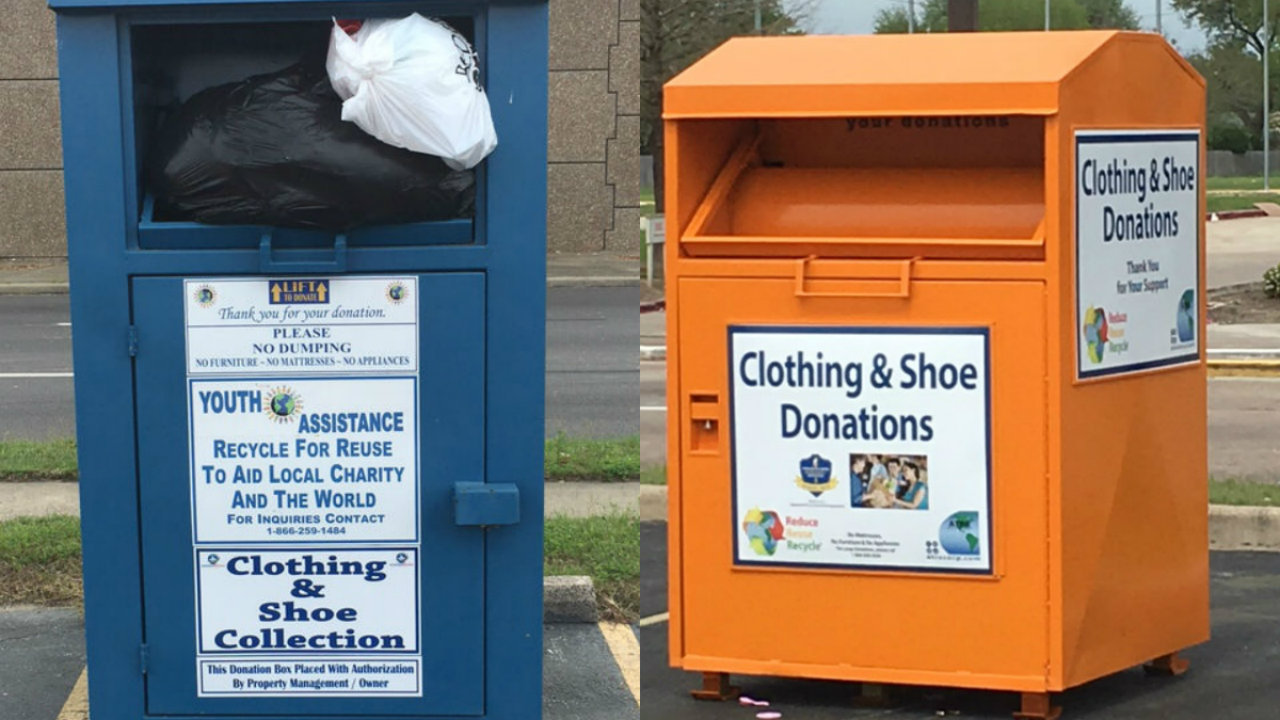 Collecting Clothing for a Cause Click Here to Schedule Your Pickup! Hosting A Box. Are you interested in providing service to your customers and revenues for your favorite charity? This is a great way to support a charity of your choice at no cost or obligation to you. Charity Clothing Pickup Collecting Clothing for a Cause *Since November.