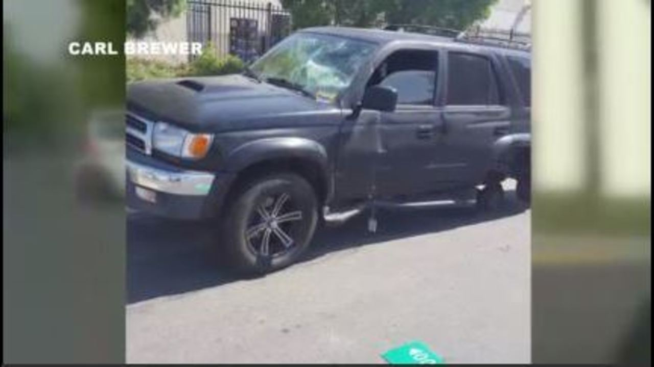 All 4 wheels fall off SUV after brake job