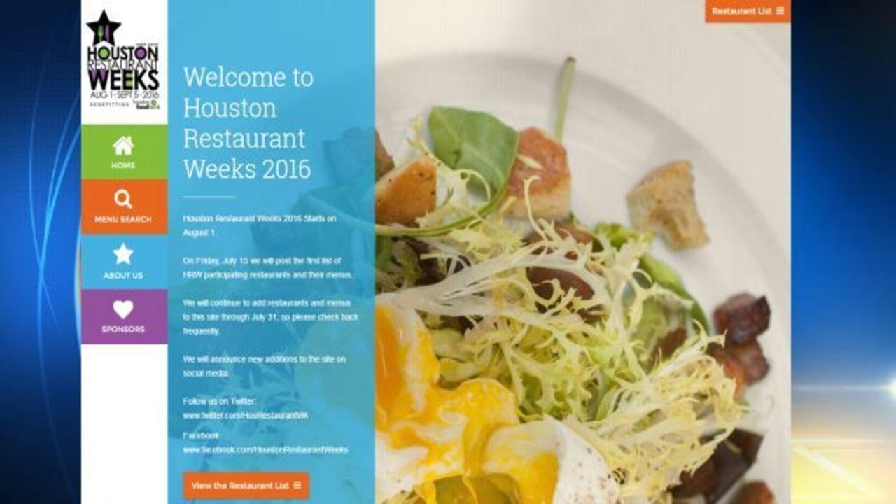 Houston Restaurant Weeks 2016 restaurants revealed
