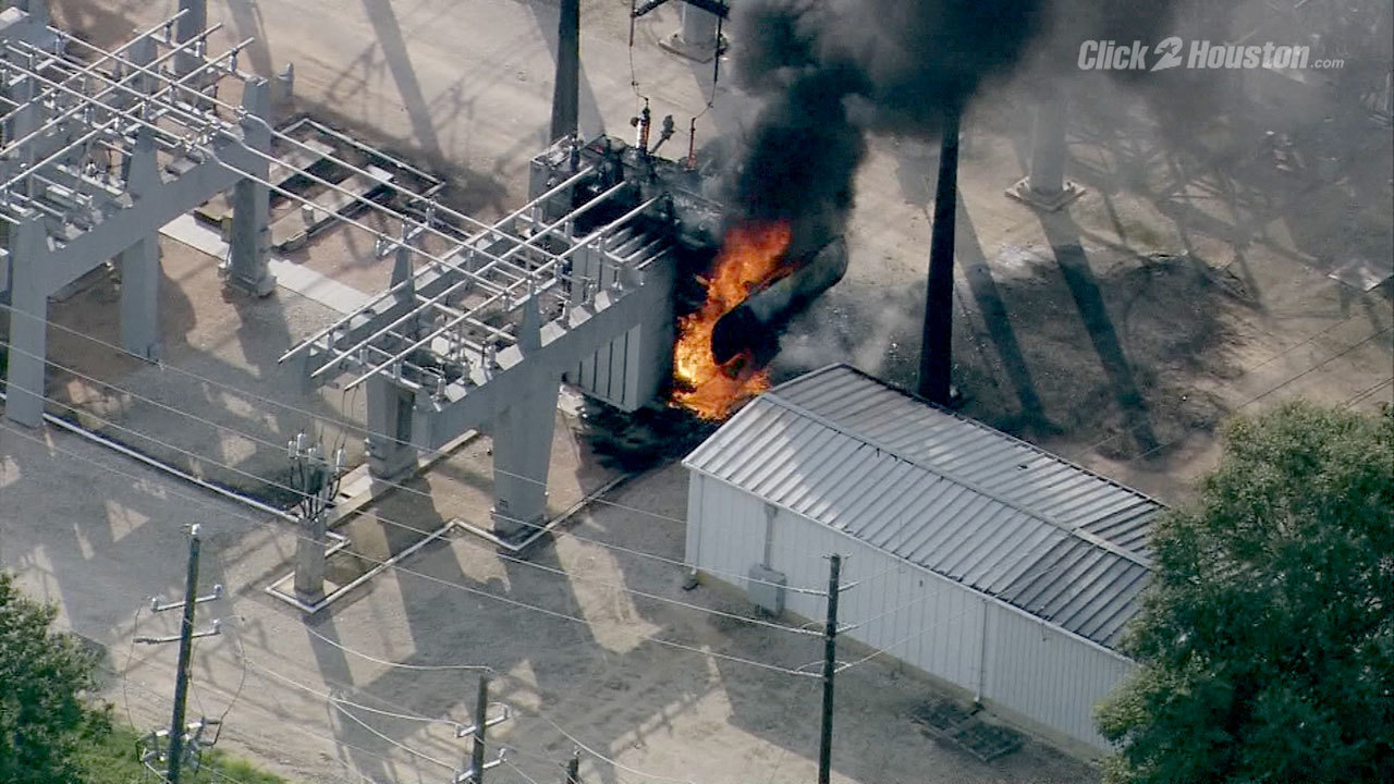 Power Restored After Transformer Explosion Fire In Cypress