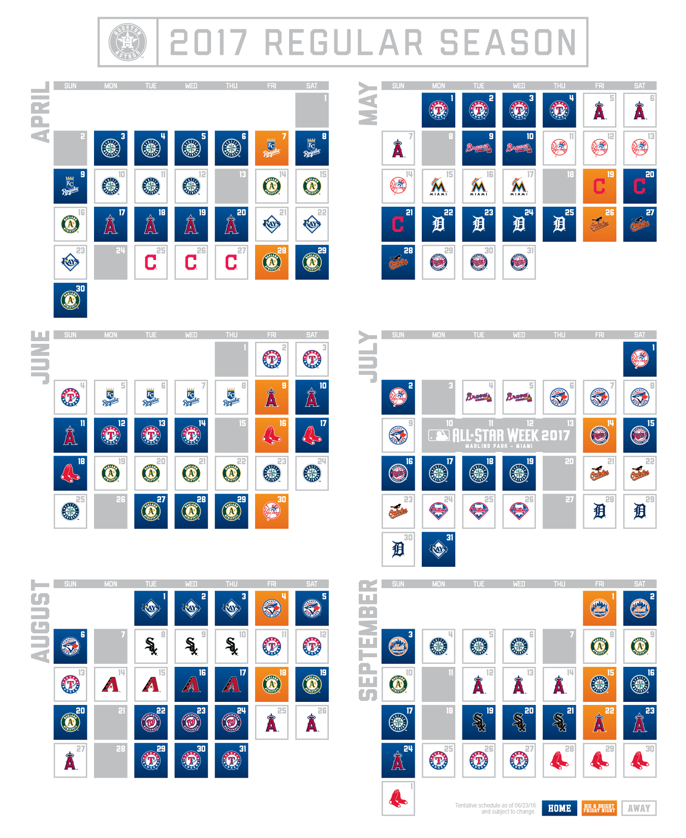 picture about Braves Printable Schedule known as Houston Astros launch 2017 period timetable