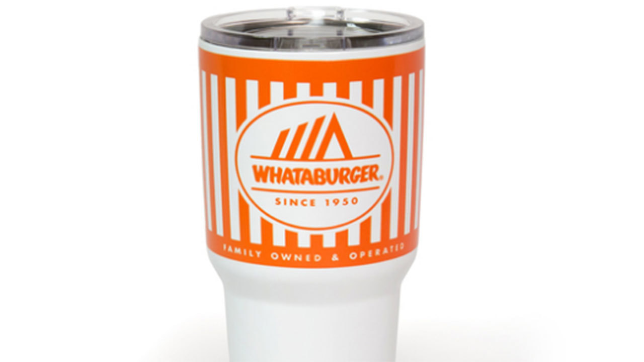 Whataburger sells tumblers that look like restaurant\'s cups