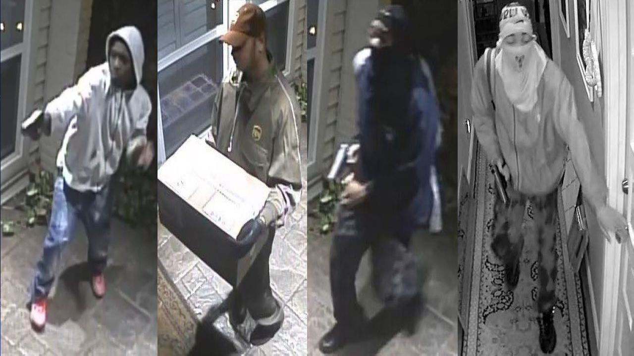 Robber posing as UPS delivery man is caught on camera