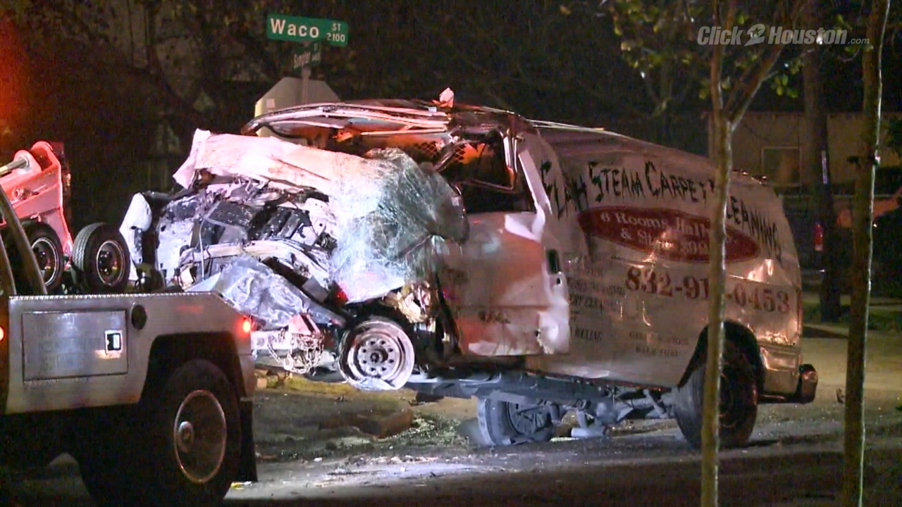 Houston Car Crashes Into House