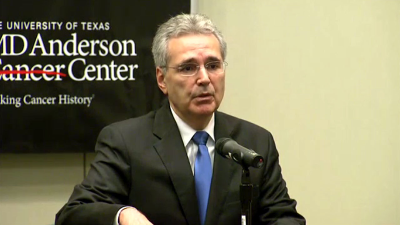 MD Anderson Cancer Center president resigns