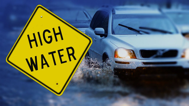 High water being reported on some Houston roads
