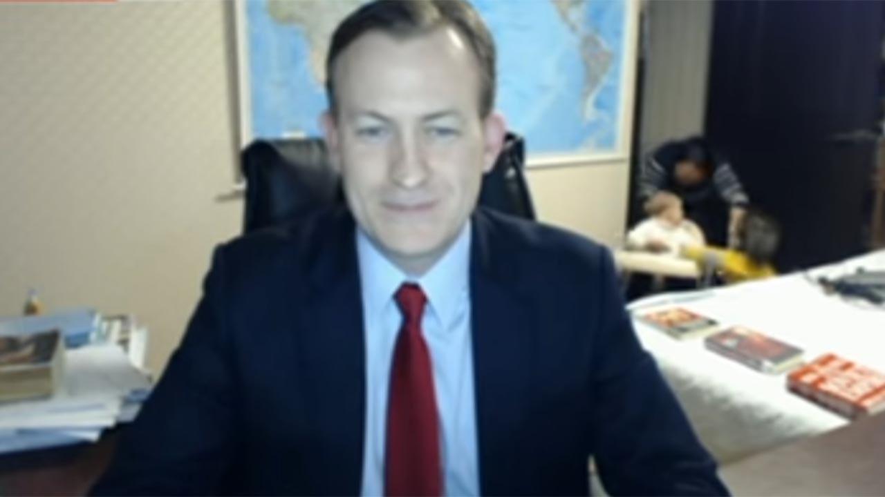 video children interrupt dad s serious bbc interview