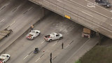 Raw video: Lanes of I-10 closed near downtown Houston