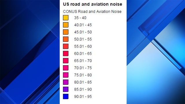 Transportation noise mapped for Houston other US cities