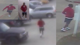 Surveillance video of suspect wanted for shooting woman during robbery