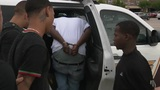 Three men arrested, accused of following, robbing bank customers