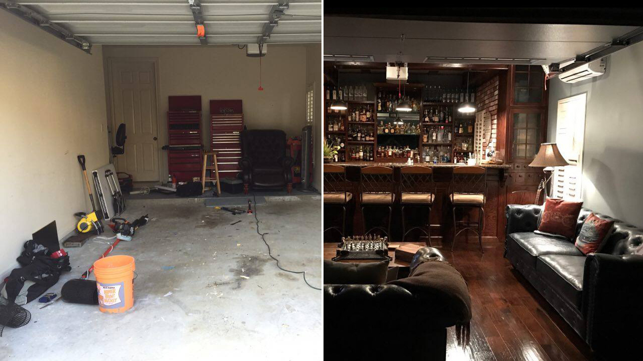 Man Cave Garage Houston : Man shares look inside his dream diy cave