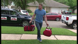 JJ Watts delivers pizza to fan's home