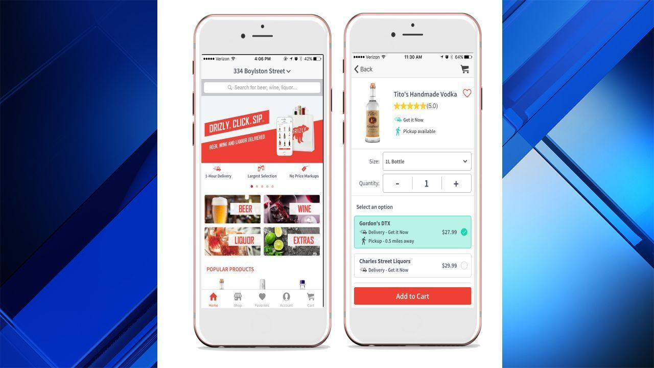 Drizly Alcohol Delivery App Available In Houston