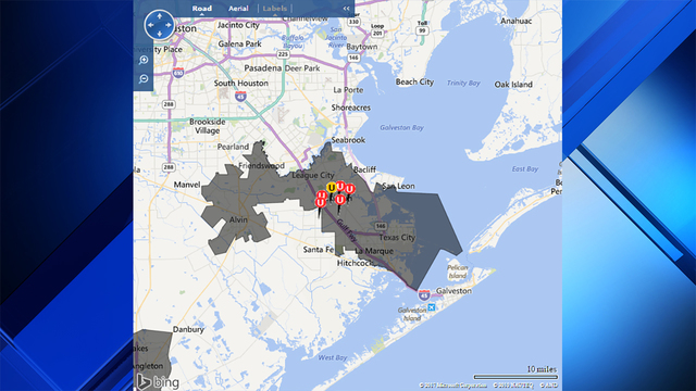 Power Restored To Thousands In Dickinson After Major Outage - Internet outage map of the us