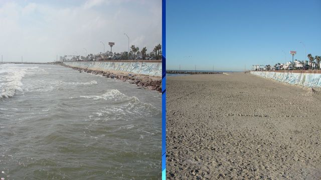 ceremony to mark end of galveston beach expansion project
