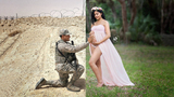 Viral photo brings together deployed husband with pregnant wife