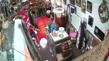 Antique store theft surveillance video