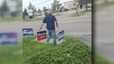 Campaign sign controversy