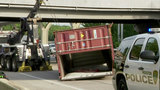 Tractor-trailer hits I-10 overpass near downtown Houston