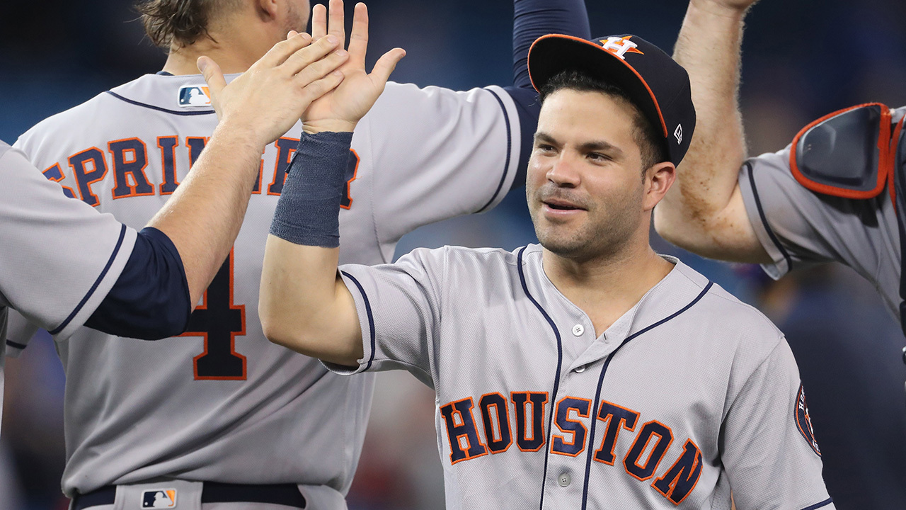 Astros 2b jose altuve to bat leadoff for american league for Blums fishing almanac