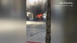 San Diego gas station car fire