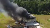 Industrial plant goes up in flames in Conroe