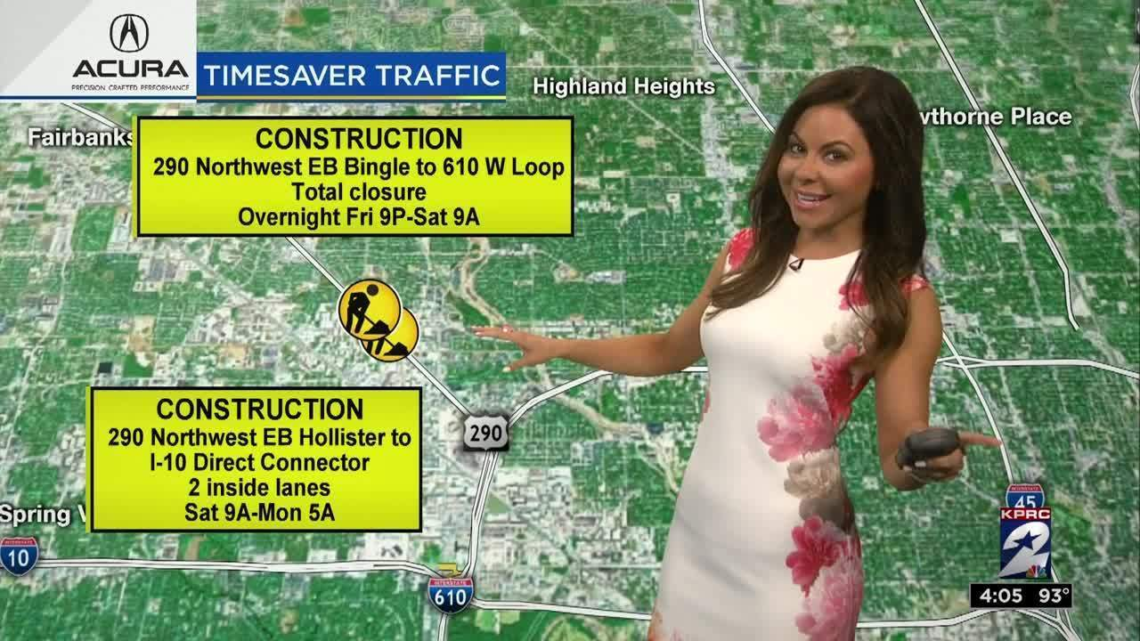 Weekend traffic alert with Jennifer Reyna