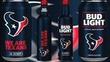 Limited edition Houston Texans Bud Light cans, aluminum bottles released