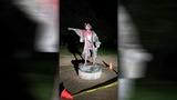 Christopher Columbus statue vandalized in Bell Park