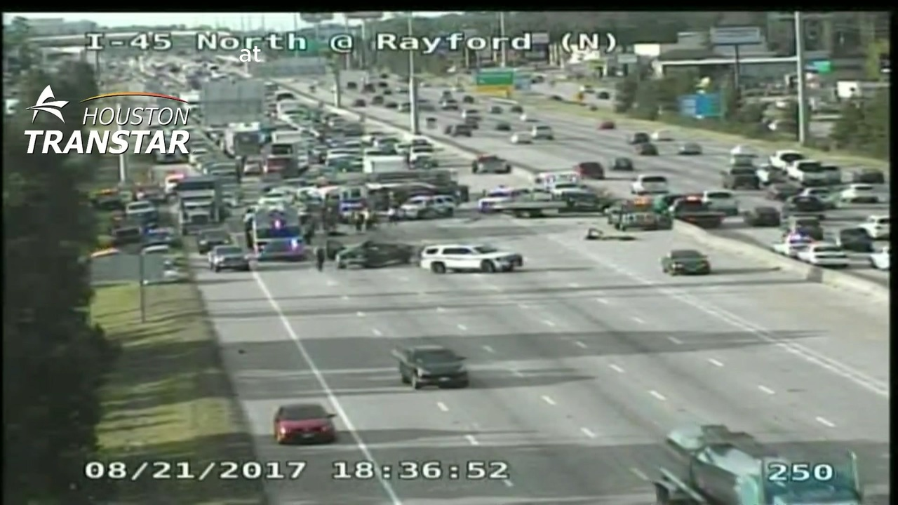 Southbound lanes of I-45 reopen near The Woodlands after