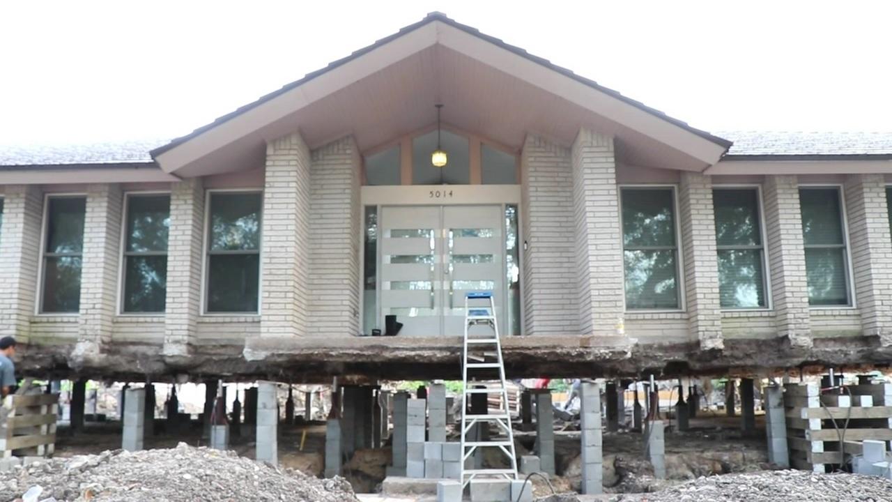 Meyerland Home Raised Ahead Of Hurricane Harvey
