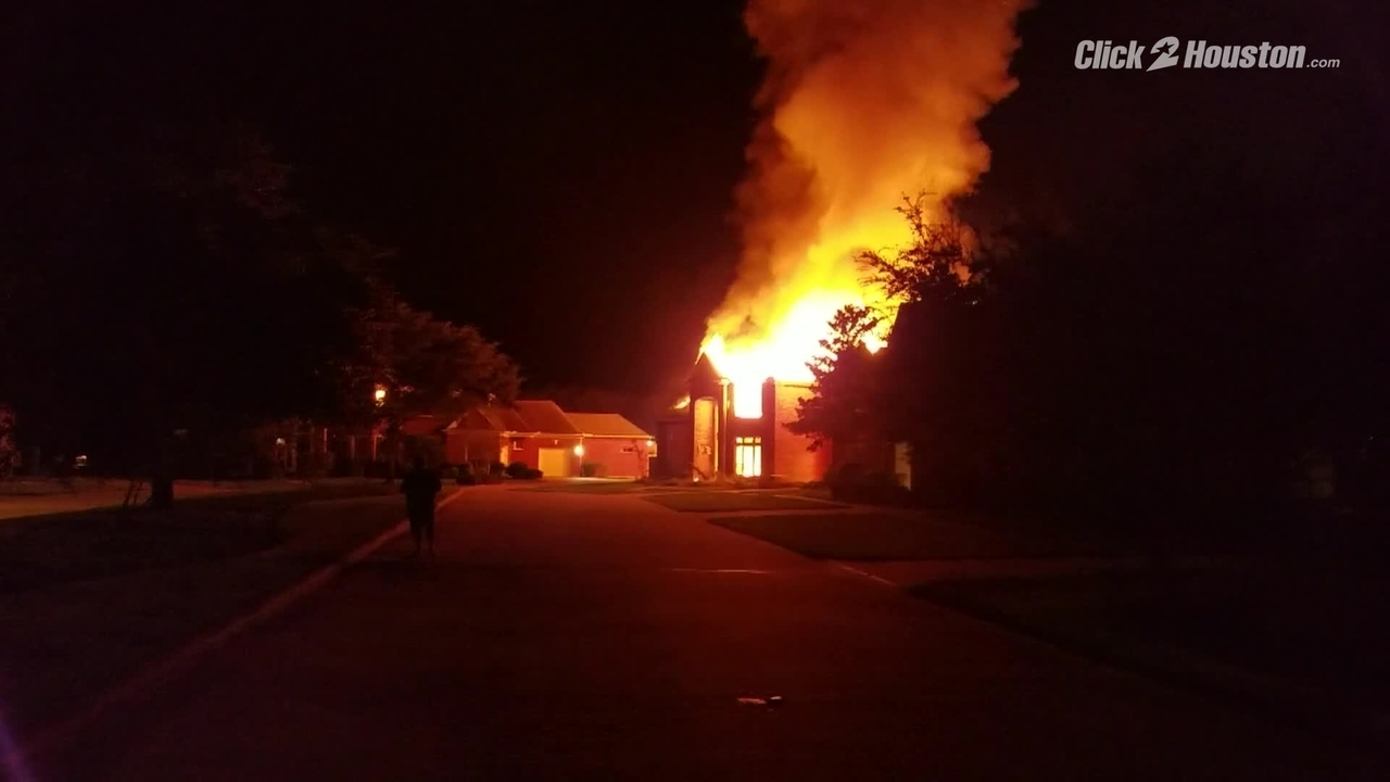 Sienna Plantation home damaged during Harvey catches fire