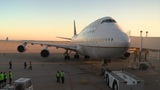 United Airlines bids farewell to the 747